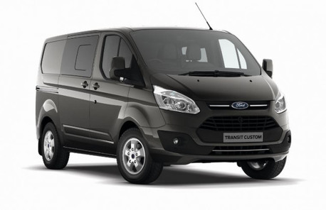ford transit custom crew cab lease this van with global vans. Black Bedroom Furniture Sets. Home Design Ideas